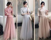Çin Gelinlik Modelleri Kardeşhood Şampanya Akşam Kadın Ziyafet Düğün