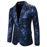 Abiti da uomo Blazer uomo Causal Suit Giacche Moda Gild Stampa Design Alta qualità Stadio Host Cantante Musicista Costume da sposa Q0C0