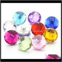 Bracciali Drop Consegna 2021 Colorful 10pcs / lot Mixing 18mm Gioielli in resina Pulsante a scatto Pressinion Bijoux orologi Donne Braccialetto di fascino PS0441 TBV