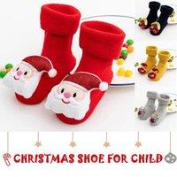 First Walkers Christmas Born Baby Girl Boy Toddler Shoes 3d Cartoon Cute Animal Soft Bottom Non-slip Socks Slippers