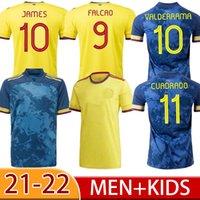 2021 Falcao James Futbol Forması 21 22 Ev Cuadrado Bacca 2022 Mavi Futbol Gömlek Spor Kısa Kolombiyalı Valderrama