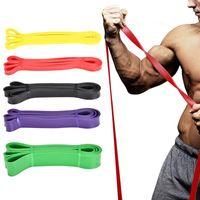 Resistance Bands 208cm Unisex Fitness Rubber Yoga Band Pilates Elastic Loop Crossfit Expander Strength Gym Equipment 1PC