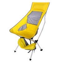 Peso leve de luz portátil Cadeira de campismo Cadeira assento para festival de pesca Praia de churrasco de piquenique com saco laranja azul vermelho céu-azul acampamento Furnitur