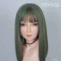 Máscaras de festa (HD03) Hidolls Handmade menina feminina resina meia cabeça cosplay papel japonês jogar bjd kigurumi máscara crossdresser boneca