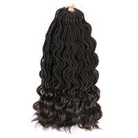 14 inç Senegalese 80g 35 iplikçik / paketi sentetik dalgalı tığ işi saç uzantıları kıvırcık örgü