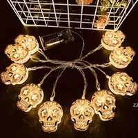 Cadılar bayramı Süslemeleri Işık Dize Kabak Ghost Kafatası Atmosfer Sahne Düzeni Renkli 3 M 20 Işıkları Paskalya Pil Kutusu LED HWF10478