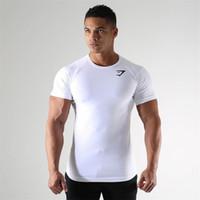 T-shirt maschile Sport estate Sport a maniche corte Top Andamento rapido Asciugatura Allenamento Traspirante Compressione Traspirante Gym Gym Fitness Tracksuit
