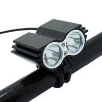 Faro della Bike Light 5000LM 2 * XML T6 LED MTB Bicicletta anteriore per bicicletta Lampada da ciclismo