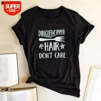 T-shirt DINGLEHOPPER SAÇ KONTROL DONTIM Küçük Mermaid Ariel Tshirt Kısa Kollu Grafik Tees Bayan 2020 Magliette Donna Partisi # NW5M Tops