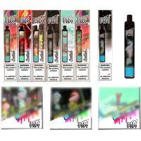 100% Original Ezzy Mini 2 em 1 Design Descartável E Cigarros 800mAh Bateria 6.8ML PODs Pre-Cheios Cartucho 1800Puffs Vaporizers Vape Pen