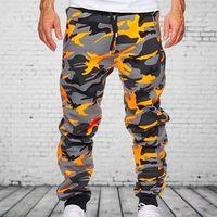 Men's Pants Cotton Mens Jogger Autumn Pencil 2021 Men Camouflage Military Loose Comfortable Cargo Trousers Camo