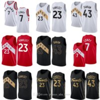 2021 باسكال 43 Siakam جيرسي كايل 7 Lowry Tracy Vince Carter Fred 23 Vanvleet كرة السلة قميص NCAA مخيط كلية الفانيلة