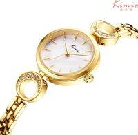 Kimio Top Marke Frauen Quarzuhr Edelstahl Armband Muschel Oberfläche Mond Damen Kleid Reloj Mujer 210616