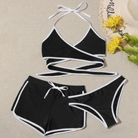 Women's Swimwear Women Sexy Thong Swimsuits 3 Pieces Push Up Bikini Sets Girl Beach Bathing Suits Soprt Swimming Suit For