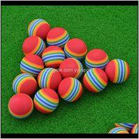 1 unids pelota de golf Super lindo arco iris juguete pequeño perro gato mascota eva juguetes práctica bolas P9til AJR9T