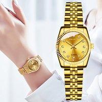Designer Luxury Marca Relógios Mulheres Es Moda Diamante Diamante Senhoras Lápis De Aço Inoxidável Malha De Malha De Ouro Feminino Quartz