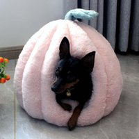 Cat Beds & Furniture Winter Pink Dog Kennel Thickened House Cute Yurt Pet Warm And Washable