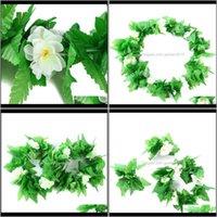 Decorative Flowers Wreaths Festive Party Supplies Home & Garden4Pcs Set Hawaiian Set Lei Luau Hula Fancy Dress Beach Part Flower Garland Nec
