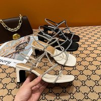 Sandals Women Fashion Casual Rhinestone Slippers Open Toe Outdoor Thick High Heels Designer Summer Shoes For 2021