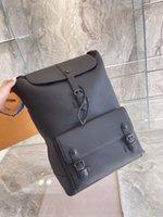 "LB2 Designer LV&#13LOUIS""VITTON VUTTON VUITTON Bags Presbyopia Casual Black Backpack Fashion paris brand Luxury genuine leather"