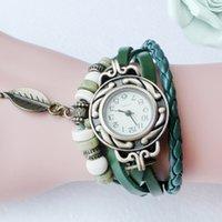 Designer luxo marca relógios mulheres rápidas crianças retrô couro pulseira pulseira folha pingente de quartzo es valentine presente
