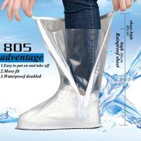 ماء أحذية عالية أنبوب مغطاة للجنسين والجسم العالمي العقص سميكة أسفل قيعان مقاومة للاهتراء في الهواء الطلق السفر العملي غطاء الحذاء المطر