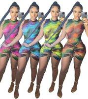 Femmes Robe Fashions Designers Vêtements Vêtements 2021 Été Rainbow Print Jumpsuit Robes Casual Maxi Beach Floral Bohemian