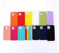 Pop it fidget pops Decompression Phone Silicone Cases For Iphone 12 Mini Pro 11 XR XS MAX X 10 8 7 Plus Push Soft Silicone