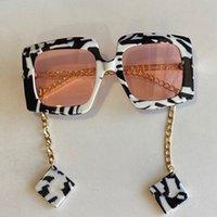 mode classique 0722S lunettes feuille de polycarbonate cadre rectangulaire 0722 lunettes de soleil hommes et femmes lunettes de soleil avec boîte d'origine