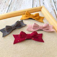 Hair Accessories Korea Children's 4 8pcs set Corduroy Bows Girls Clip Kids Toddlers Side Barrettes Handmade Hairpin