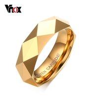 Vnox Heren Tungsten Carbide Trouwring US Maat 6 7 8 9 10 11 Gouden Kleur Topkwaliteit