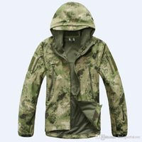 Stealth Shark Skin Military Outdoor Jacket Men Sport Softshell Waterpoof Hunting Clothes Tactical Camouflage Army Hoodie Jacket hxl