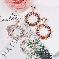 Drop Dangle Earrings For Women Beads Charm Luxury Wedding Statement Jewelry Earrings