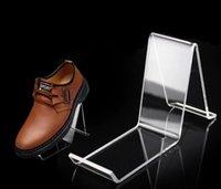 Fashion Clear Acrylic Shoe Rack Holder Simple Shoes Display Stand Shelf Wholesale#643