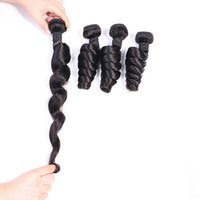 Brazilian Virgin Hair Bundles Human Hair Weaves Color 1B India Hair Extensions Loose Wave Bundles