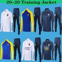 2021 Top Boca Juniors Giacche Zipper Tracksuit TEVEZ Soccer Jogging de Rossi Training Suit Maradona Football Football Giacca da allenamento