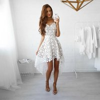 Casual Dresses Lace White Dress Sexy V Neck Sleeveless Hollow Out Summer For Women 2021 Party Evening Elegant Robe