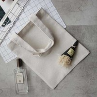 Aufbewahrungstaschen Schwarz / Weiß Leere Muster Leinwand Einkaufen Eco Wiederverwendbare Faltbare Schulterhandtasche Baumwolle Tasche MTL1