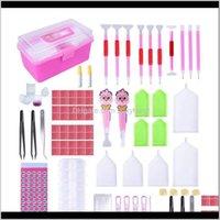 바느질 개념 도구 121PCS 디자인 5D 액세서리 만화 LED 드릴 펜 다이아몬드 페인팅 키트 도구 어린이 소녀 Diamo 8Wump FBYNM