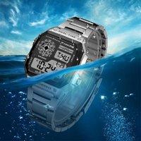 Wristwatches SYNOKE Big Small Digital Watch Men Women Luxury Gold Wristwatch 50m Waterproof Male Female Clock Multifunction Metal Body