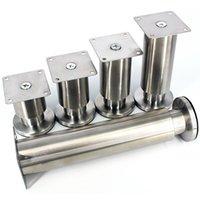 Acessórios para mobiliário Ano inoxidável de aço inoxidável Pés Engrossar Pernas Mesa / Sofá / Armário Suporte Estável Pé Multifuncional 4 Pçs / Lot
