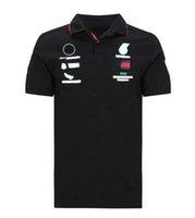 Fórmula 1 carro camisola de polo correndo fãs de terno personalizado personalizado equipe de manga curta uniforme de secagem rápida respirável t-shirt manchete macacão