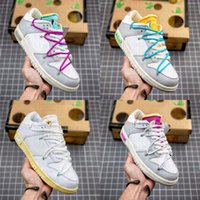THE 50 Dunks Low Casual Scarpe Off Sail Neutral Grey Lot 1 White Womens Mens Street Sneakers 01 di 50 Chaussures all'aperto