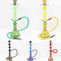 Hookah Shisha Bong Smoking Water Metal Pipe Set Ceramic Bowl Arab Stem Acrylic Vase Tools Hose pumpkin diamond 4 Styles Tool Accessories