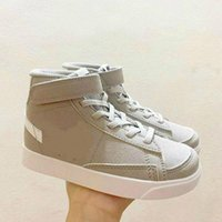 03 Çocuk Blazers Spor Ayakkabı 77 Vintage İyi Bir Oyun Erkek Kız Çocuklar Çocuklar SB Kesim Susam Mistik Donanma Hiper Pembe Yanardöner Sneaker