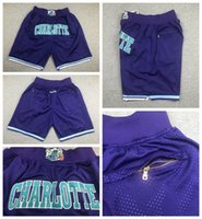 CharlotteFrelonsHommes juste Don Pocket Basketball Shorts 2021 Mint Vert VilleIcône de sarcelle d'associationProjet 331