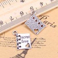 96st Charms voor Sieraden Maken Boek Diary Secret Love 18x15mm Antique Plated Hangers DIY Tibetaanse zilveren ketting