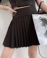 Conjuntos de vestidos casuales de moda Re-nylon Style Faldas Faldas de cintura retractación de cintura Vestido de bola de bola Vestidos Midi con triángulo invertido