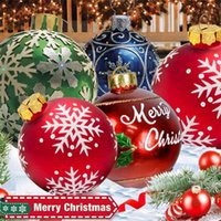 1 قطعة 60 سنتيمتر كرات عيد شجرة زينة في الهواء في الهواء pvc نفخ لعب للمنزل هدية الكرة عيد الميلاد 210911