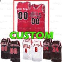 Custom Chicago Mens Jerseys Bulls Zach Derrick Lavine Lavine Lauri 1 Rosa Markkanen Coby Wendell Branco Carter Jr Otto 22 Porter Basquetebol Kids